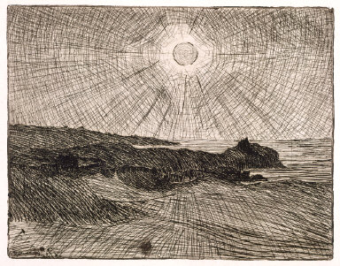 Pleine lune sur la côte (Full Moon of the Coast)