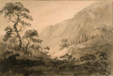 Mountainous Landscape with Ruin