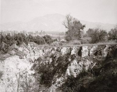 Eroding Edge of Abandoned Citrus Growing Estate, East Highlands, California