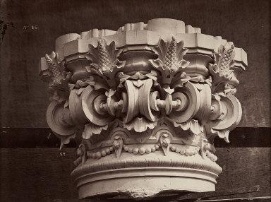Ornamental Sculpture of The New Paris Opera 'Chapiteau des colonnes ...