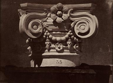 Ornamental Sculpture of The New Paris Opera 'Chapiteau des colonnes du ...