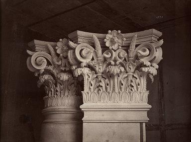 Ornamental Sculpture of The New Paris Opera 'Chapiteau des colonnes et ...