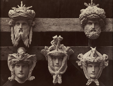 Ornamental Sculpture of The New Paris Opera 'Masques du vestibule circulaire ...