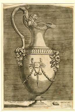 ENGRAVING of a ewer