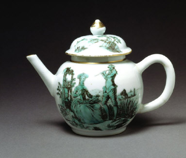 CHINESE TEAPOT transfer-printed in England