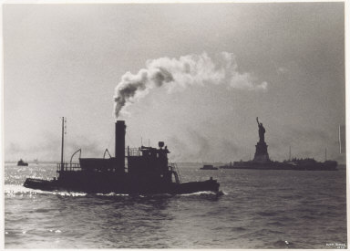 Untitled (Tugboat, State of Liberty, NY)
