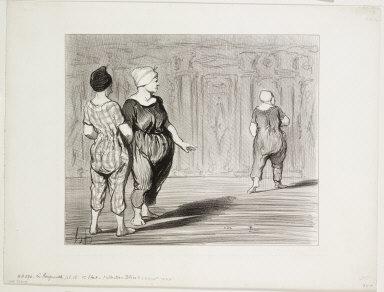 [The Bathers, plate 15: It is her again, a pretty fashion, Madame Coquardeau!, Les Baigneuses, Pl. 15: Elle à encore tout d'même une jolie taille madame Coquardeau!]