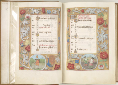 Hours of Queen Isabella the Catholic, Queen of Spain: October, fol. 11 (recto)