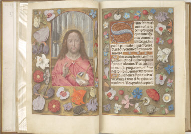 Hours of Queen Isabella the Catholic, Queen of Spain: Salvator Mundi, fol. 14 (verso)