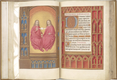 Hours of Queen Isabella the Catholic, Queen of Spain: The Trinity, fol. 17 (verso)