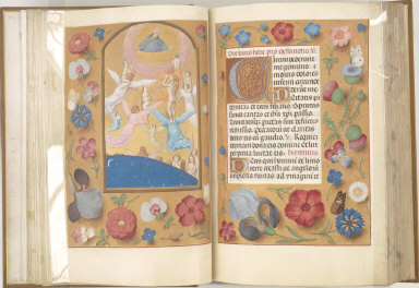 Hours of Queen Isabella the Catholic, Queen of Spain: Souls of the Saved Brought to Heaven, fol. 24 (verso)