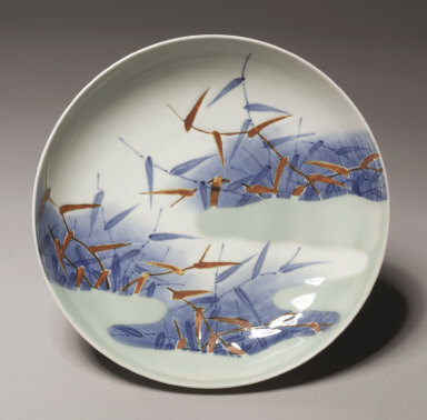 Dish with Reeds and Mist: Nabeshima Type