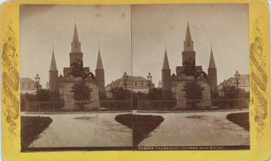 French cathedral, Jackson Square