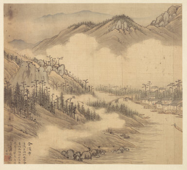 Eighteen Views of Wuxing: The Town of Hexi (Confluence of Streams}