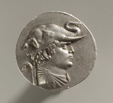 Tetradrachm: Bust Wearing Elephant-Scalp Headdress (obverse)