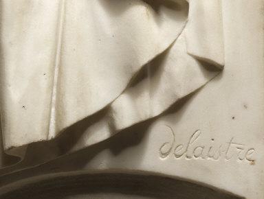 [Figure of a Young Girl, Une rosière pleurant la mort de son fondateur et montrant l'image de son coeur]
