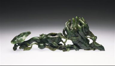 Water Pot (Shuicheng) in the Form of the Fungus of Immortality (Lingzhi), 'Buddha's Hand' (Foshou), Pomegranate, and Peach