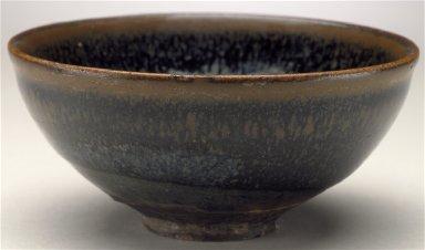 Tea Bowl (Chawan) with Oil Spot Pattern
