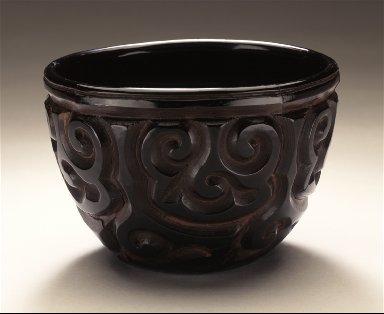 Tea Bowl (Chawan) with Sword-Pommel Pattern