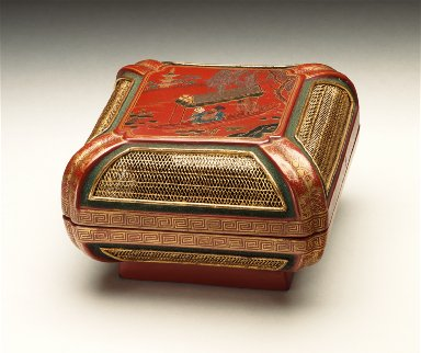 Box with Scholar and Attendant in a Boat
