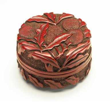 Seal Paste Box (Yinnihe) with Litchi Stems