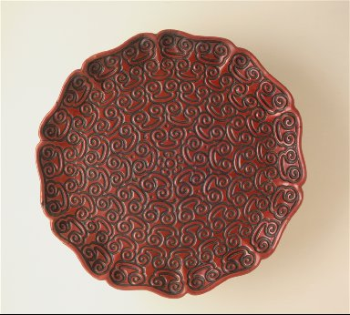Foliated Dish (Pan) with Sword-Pommel Pattern