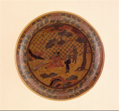 Dish (Pan) with Scholar and Attendants under a Tree