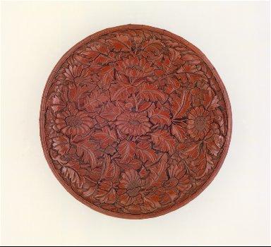 Dish (Pan) with Chrysanthemums