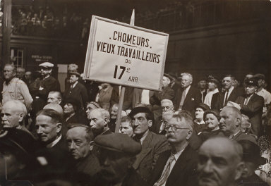 Unemployed Workers from the Seventeenth Arodnissment of Paris, Demonstrating