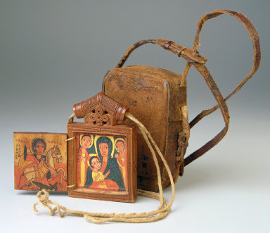 Icon polyptic and leather case