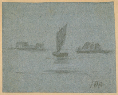 Untitled (Sailboats in Landscape)