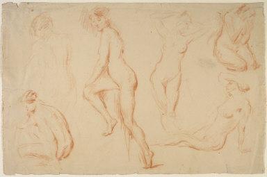 Six Studies of a Female Nude