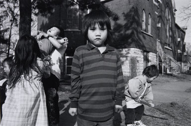 Hmong Boy with Clenched Fists, Frogtown