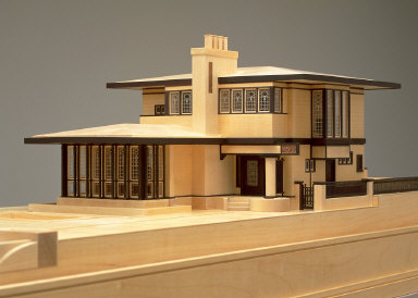Model of the Edna S. Purcell house, now the Purcell-Cutts house, 1913