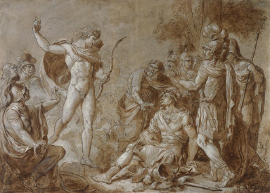 Apollo, at the Behest of Zeus, Restoring Hector to Health and Exhorting Him to Engage the Greeks in Combat