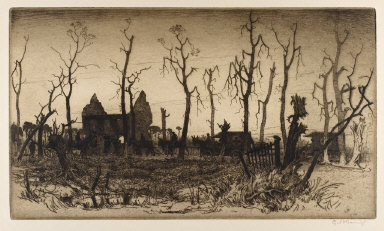 Evening on the Ypres - Poperinghe Road near the Asylum