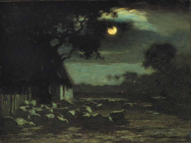 Sheepyard, Moonlight