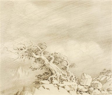 Untitled (transfer drawing for Storm near Timberline)