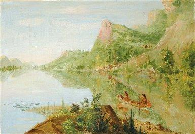 View on the Wisconsin River, Winnebago Shooting Ducks