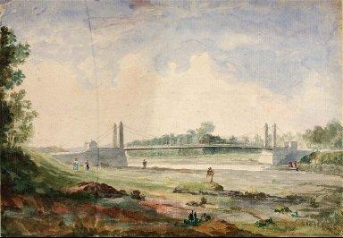 Suspension Bridge over the Arno, near the Cascine, Forence