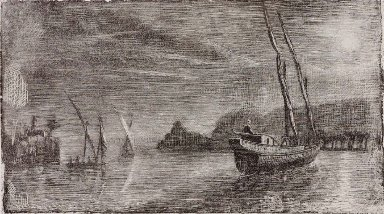 Untitled (Boats in Harbor)