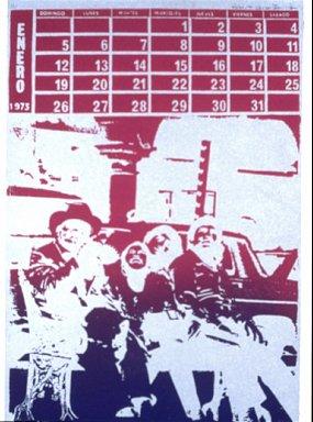 (one calendar of twelve serigraph images- Enero 1975)
