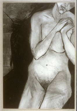"""Illustration accompanying """" Praise for Tears..."""", first illustrated folio in the book-portfolio, Poem Made of Water (San Diego: Brighton Press, 1992)"""