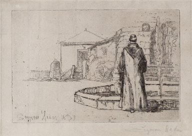A Monk at the Fountain