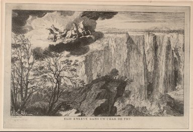 Falls of Niagara River-Elijah Ascending to Heaven in Fiery Chariot
