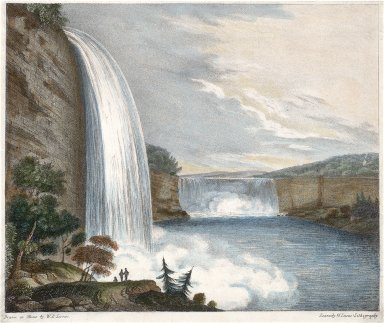 The Falls of Niagara-Side of the American, Horse Shoe Fall in Distance