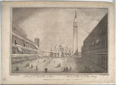 A View of St. Marks Place at Venice (after Canaletto)