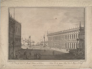 A View of Little St. Marks Place at Venice (after Canaletto)