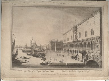A View of the Doge's Palace at Venice (after Canaletto)