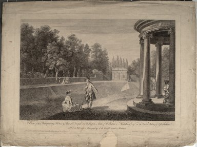 A View of the Banqueting House and Round Temple at Studley